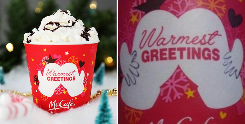 McDonald's Christmas Cup Design Goes Viral, But For The Wrong Reason! - World Of Buzz 2