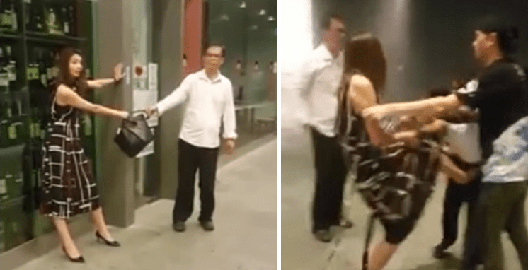 Pretty Asian Woman Attacks Taxi Driver And Security Guard After Refusing To Pay Taxi Fare - World Of Buzz 3