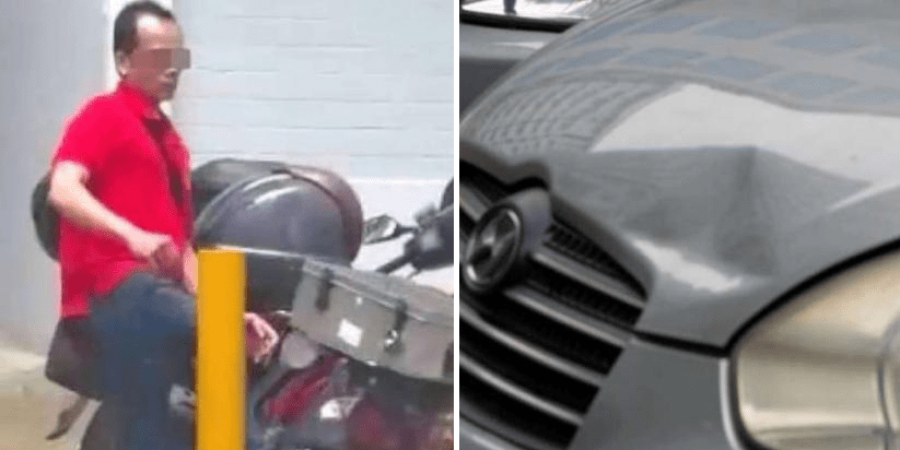 Singaporean Man Punches Parked Car Until He BLEEDS For No Good Reason - World Of Buzz 4