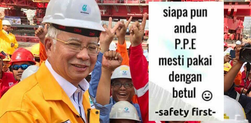 The Internet Is In A Ruckus Over How Najib Wore His Safety Helmet Wrongly - World Of Buzz 4