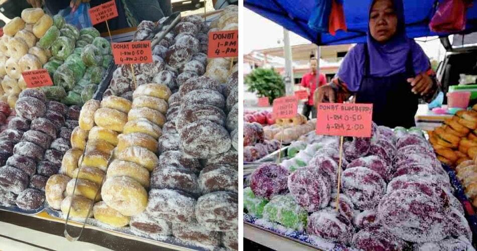 This Mak Cik Sells Colourful Doughnuts At A Stall In Kuala Kangsar - World Of Buzz 3