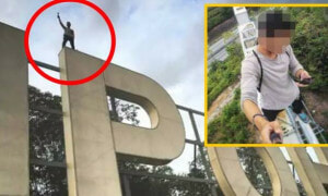 ANOTHER Daredevil Climbed The Iconic 'IPOH' Sign, Authorities Searching For Him - World Of Buzz