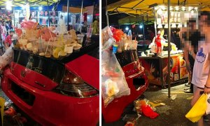 Car Parked At Taman Connaught Pasar Malam Gets Literally Trashed, Netizens Are Torn If The Act Was Okay - World Of Buzz