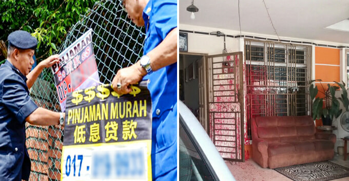 Malaysian Family's House Vandalized By Loan Sharks, Turns Out They Got The Wrong House - World Of Buzz 1