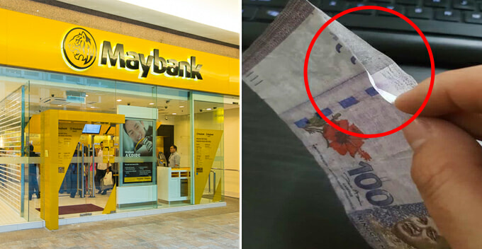 Malaysian Man Allegedly Receives Fake Rm100 Note When Withdrawing Money Over Counter - World Of Buzz 3