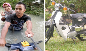 Malaysian Man Modified Motorcycle Allowing It To Ride In Water, Gains Online Attention - World Of Buzz 1
