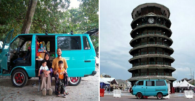 Malaysian Man Turns Rusty Van Into Campervan, Embarks On Road Trip With Family - World Of Buzz 11