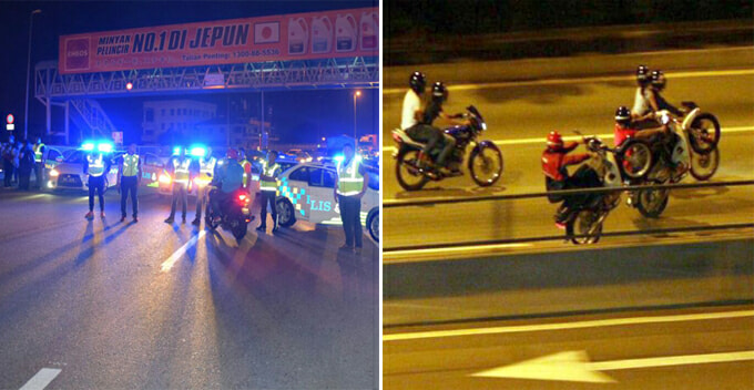 Ops Samseng Foiled After Malaysian Police Accidentally Switches On Siren Light And Alerted Mat Rempits - World Of Buzz 5