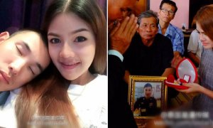 Thai Policeman Died In Accident, Girlfriend Proceeds With Their Engagement As Planned - World Of Buzz 4