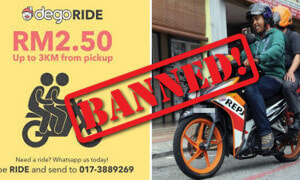 Transport Ministry: Dego Ride Motorcycle Service Is A NO-GO - World Of Buzz