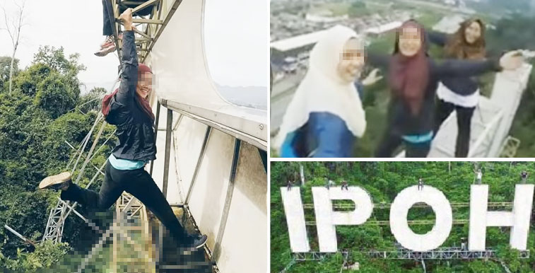 Youngsters Who Went Viral Climbing the Ipoh Sign in Hot Water - World Of Buzz 4