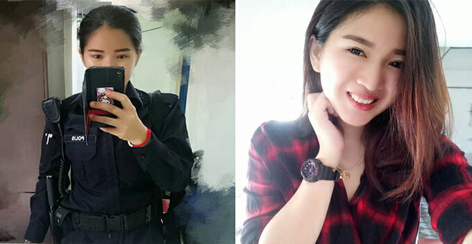 Another Malaysian Female Police Officer Got Netizens Begging To Be 'Arrested' - World Of Buzz