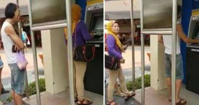 Impatient Singaporean Man Tells Lady To F*ck Off For Being 'slow' At Using Atm - World Of Buzz 5