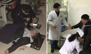 Man Insist On Gaming Even After Spitting Blood And Collapsing On Ground. - World Of Buzz 5