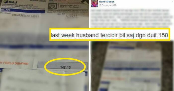 """""""my Husband Accidentally Dropped The Water Bill With Rm150, Today We Received A Letter"""" - World Of Buzz"""