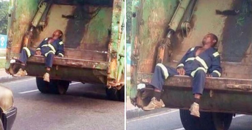 Netizens Back Up Garbage Man Whose Picture Was Used As The Butt Of A Joke - World Of Buzz 4