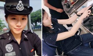 Netizens Going Nuts About This Beautiful Chinese Policewoman In Malaysia - World Of Buzz