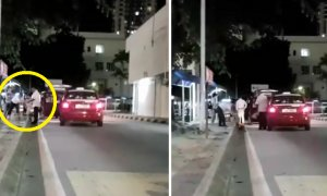 Video Shows Japanese Reporters Standing By At HKL Clean Up Rubbish Before Leaving In Taxi - World Of Buzz 4