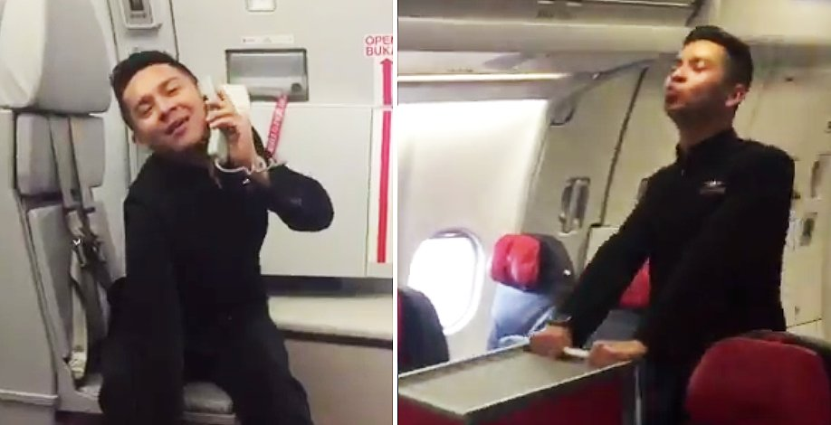 "AirAsia Steward Dances To Britney Spears' ""Toxic"", Catches Tony Fernandes' Attention - World Of Buzz 2"
