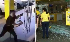 Angry Man Wreaks Havoc And Smashes Glass Panels At Digi Store Because Internet Is Slow - World Of Buzz