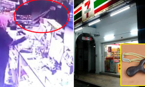 CCTV Footage Reveals Man Robbing 7-Eleven 'Shoots' Worker with a Slingshot - World Of Buzz