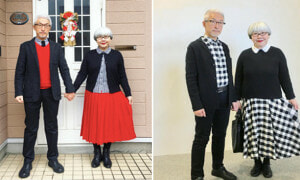 Netizens Got Mind-Blown By This Loving Elderly Couple In Matching Outfits On Instagram - World Of Buzz