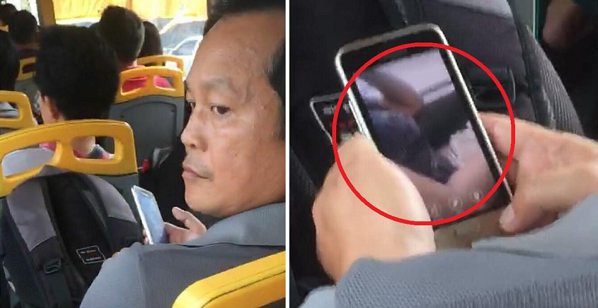 Pervert Caught Taking Picture Of Malaysian Girl Who's Asleep On The Bus - World Of Buzz 1