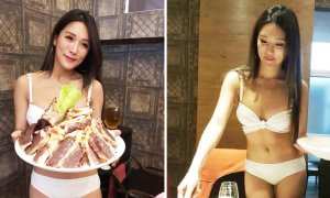 These Chinese Restaurants With Bikini-Clad Waitresses Are Going Super Viral Online - World Of Buzz 1