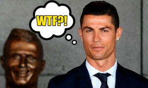 This Statue of Christiano Ronaldo has Netizens Laughing their Heads off - World Of Buzz 4