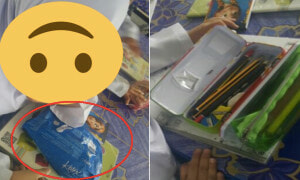 Malaysian Teacher Shocked to See What Her Student Uses as a Pencil Case - World Of Buzz 4