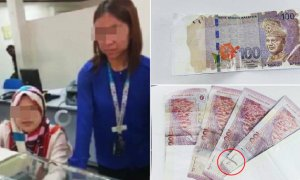 Malaysian Woman Furious after Receiving Damaged and Fake RM100 Banknotes Over Counter - World Of Buzz 3