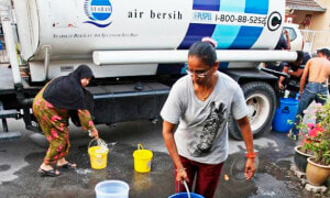 Several Areas in PJ and KL Faces Water Disruption due to Burst Pipe - World Of Buzz 2