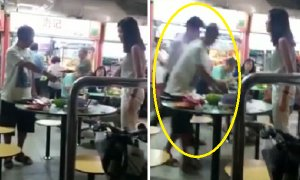 Singaporean Couple Pushes Elderly Man Over a Dispute for Table at Hawker Centre - World Of Buzz