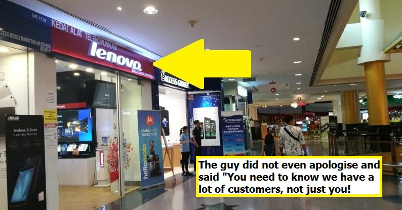 Sunway Pyramid's Lenovo Staff Scammed Student for just LOOKING at Her Laptop - World Of Buzz