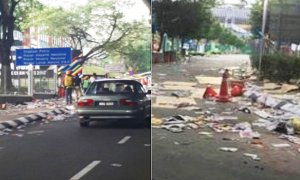 Area Near Bukit Jalil Stadium Covered in Litter After UMNO Anniversary Celebration - World Of Buzz 9
