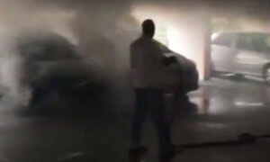 Carpark Catches Fire in Singapore, Heroic Cleaners Help Put it Out - World Of Buzz 3