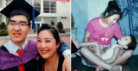 Chinese Mother Single Handedly Raises Disabled Son All The Way To Harvard - World Of Buzz