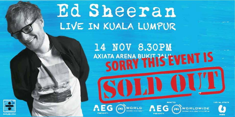 Ed Sheeran's KL Concert Tickets Sold Out, People Are Reselling It At Ridiculous Prices - World Of Buzz 1