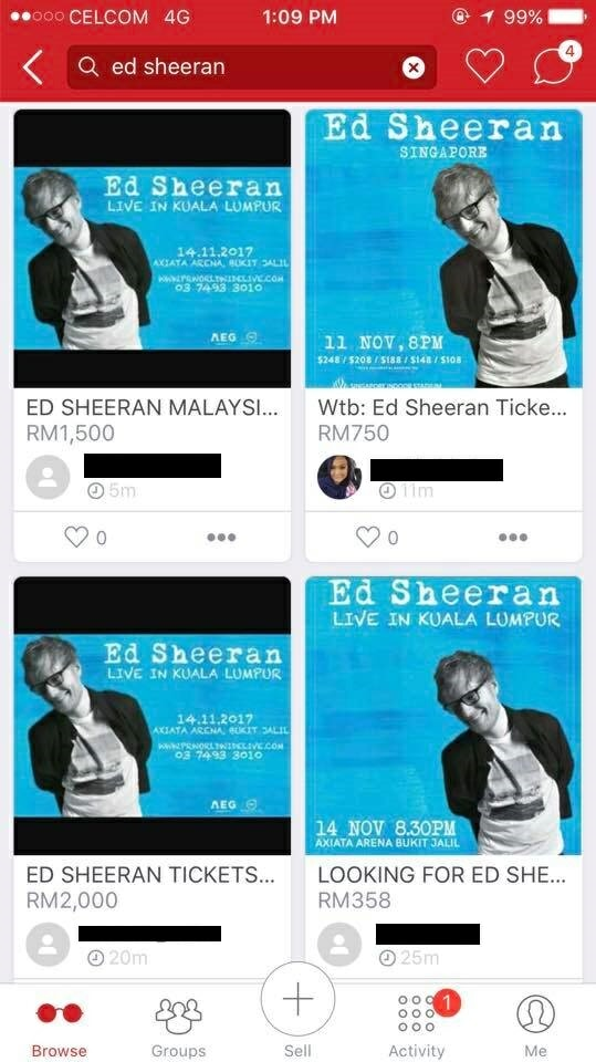 Ed Sheeran's KL Concert Tickets Sold Out, Tickets Being Resold At Ridiculous Prices - World Of Buzz 1