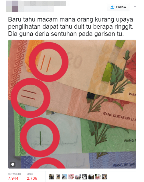 Here's How Blind Malaysians Can Tell How Much Cash They're Carrying - World Of Buzz