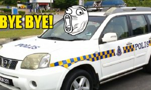 Malaysia Police MPV Drove Away by Suspect who was Put Behind the Car - World Of Buzz 4