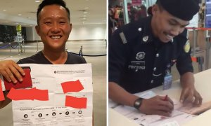 Malaysian Gets Trolled in KLIA 2 When Friend Printed Him a Giant Boarding Pass - World Of Buzz