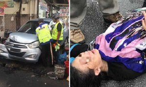 Malaysian Lady Reverses and Crashes into Penang Hawker Stalls, Flees Accident Scene - World Of Buzz 4