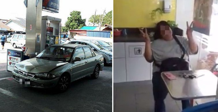 Malaysian Woman Demands for Free Petrol and Refuses to Move Her Car Until She Gets It - World Of Buzz 4