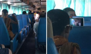 Netizen Shares Shocking Experience of Seeing Thai Monk Openly Watch Porn on Bus without Earphones - World Of Buzz 1