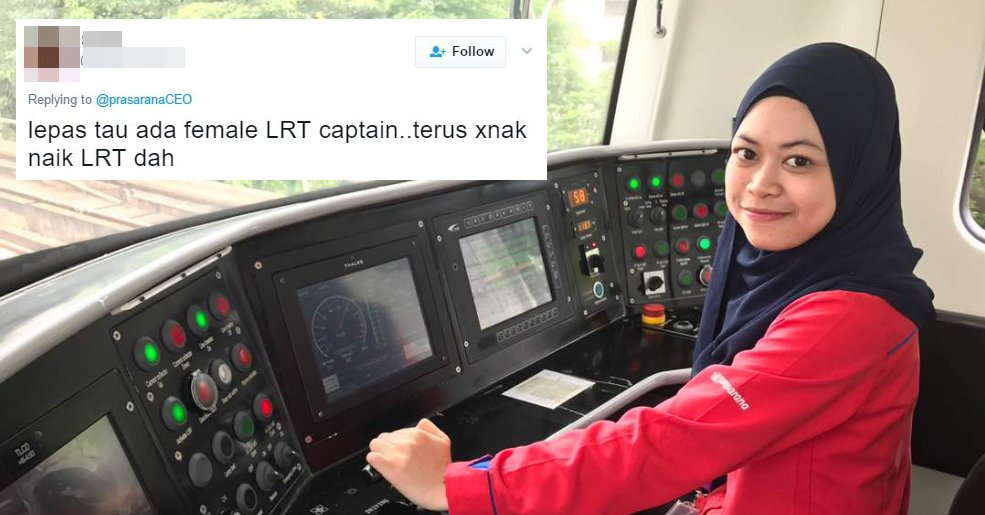 Prasarana CEO Tweets Inspiring Story of Youngest LRT Captain, Gets Mean Comments - World Of Buzz 1