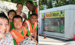 This Car Wash in Singapore Employs Mentally Challenged People to Hand Wash Cars - World Of Buzz 2