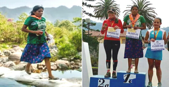 This Lady Runs 50km and Wins Ultramarathon While Wearing Sandals and Dress - World Of Buzz