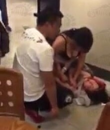 Woman Hits and Strips Mistress in Starbucks as Husband and Daughter Watches - World Of Buzz 3