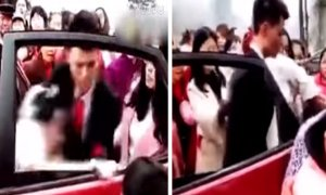 Angry Groom Receives Video of Cheating Bride, Drags Her Out of Wedding Car - World Of Buzz 2